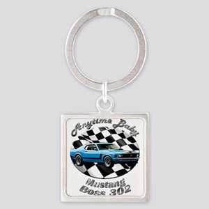 Ford Mustang Boss 302 Square Keychain