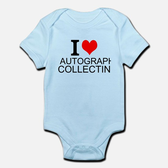 I Love Autograph Collecting Body Suit
