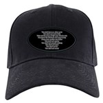 Ten Commandments Black Cap