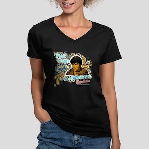 The Brady Bunch: Bobby Women's V-Neck Dark T-Shirt