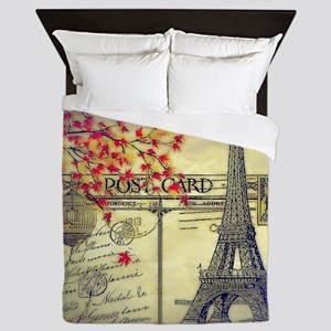 Autumn in Paris Queen Duvet