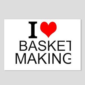 I Love Basket Making Postcards (Package of 8)