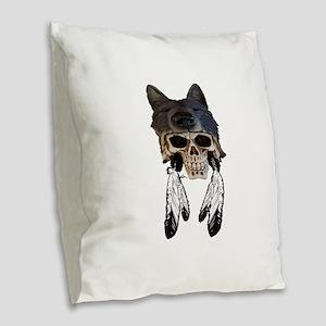 WARRIOR SOUL Burlap Throw Pillow