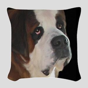 Saint Bernard Woven Throw Pillow