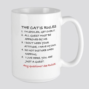 THE CAT'S RULES Large Mug