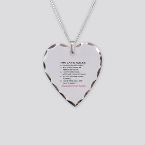 THE CAT'S RULES Necklace Heart Charm