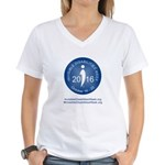 2016 Invisible Disabilities Women's V-Neck T-Shirt