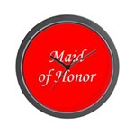 Maid of honor Wall Clock