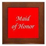 Maid of honor Framed Tile