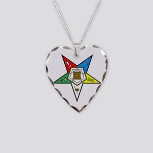 Eastern Star Necklace Heart Charm