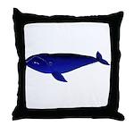 Bowhead Whale Throw Pillow