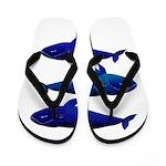 Bowhead Whale Flip Flops