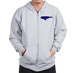 Bowhead Whale Zip Hoodie
