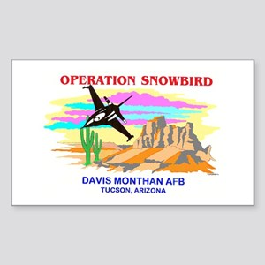 SNOWBIRD F-16 Rectangle Sticker