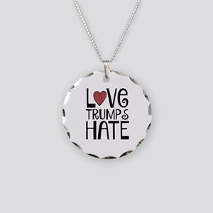 Love Necklace Circle Charm