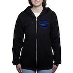3 Bowhead Whales Women's Zip Hoodie