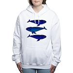 3 Bowhead Whales Women's Hooded Sweatshirt