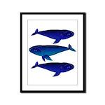 3 Bowhead Whales Framed Panel Print