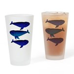 3 Bowhead Whales Drinking Glass