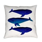 3 Bowhead Whales Everyday Pillow