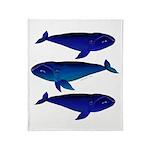 3 Bowhead Whales Throw Blanket