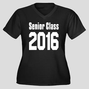 Senior Class Women's Plus Size V-Neck Dark T-Shirt