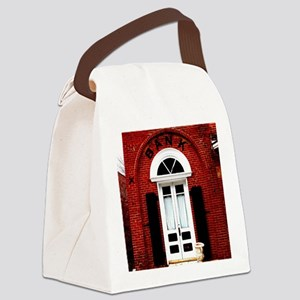 Old time bank. Canvas Lunch Bag
