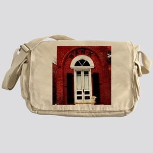 Old time bank. Messenger Bag