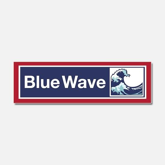 Blue Wave 2018 Car Magnet 10 X 3