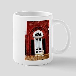 Old time bank. Mugs