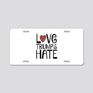Love Aluminum License Plate