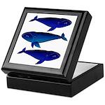 3 Bowhead Whales Keepsake Box