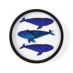3 Bowhead Whales Wall Clock