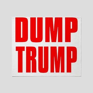 DUMP TRUMP Throw Blanket