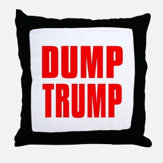 DUMP TRUMP Throw Pillow