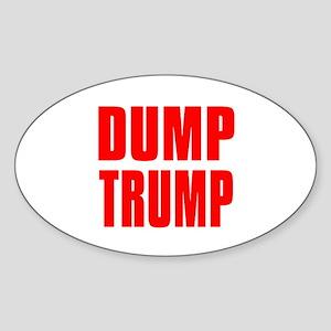 DUMP TRUMP Sticker (Oval)