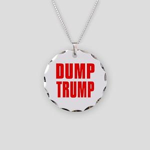 DUMP TRUMP Necklace Circle Charm