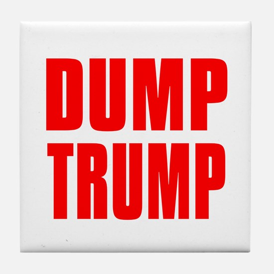DUMP TRUMP Tile Coaster