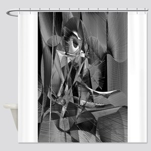 Abstract 9639 Shower Curtain