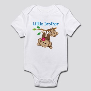 Monkeys Little Bro W. Big Sis Infant Body Suit