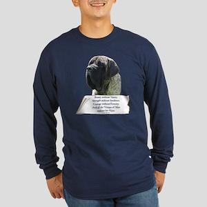 Brindle Tribute Long Sleeve Dark T-Shirt