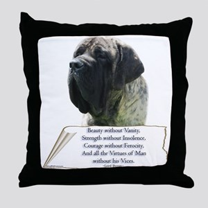 Brindle Tribute Throw Pillow