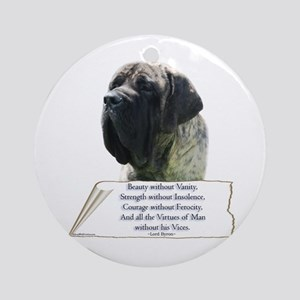 Brindle Tribute Ornament (Round)
