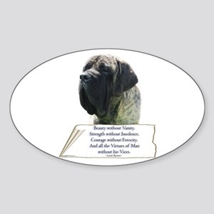 Brindle Tribute Oval Sticker