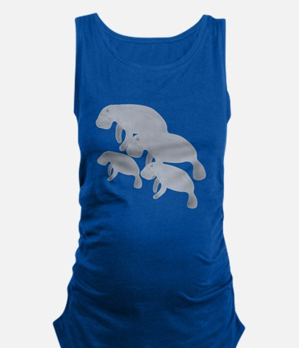 Manatee Maternity Tank Top