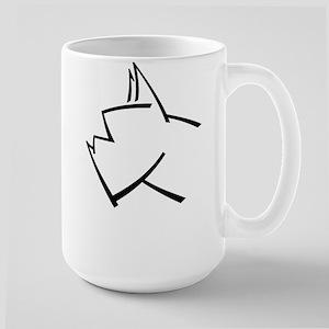 American Boxer Dog Logo Large Mug