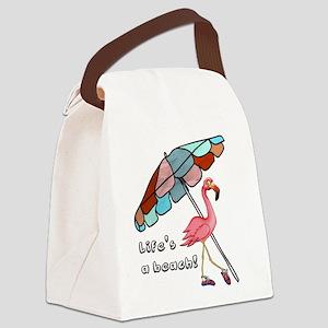 Cute Flamingo Canvas Lunch Bag