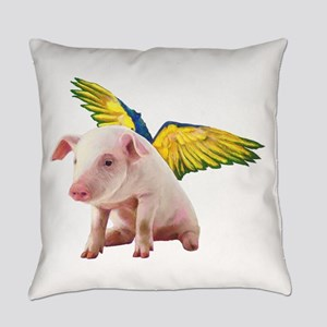 Pigs Fly Everyday Pillow