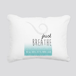 just BREATHE Rectangular Canvas Pillow