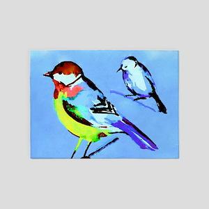 Birds On Limbs 5'x7'Area Rug